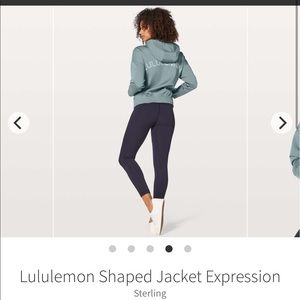 Lululemon shaped jacket sterling